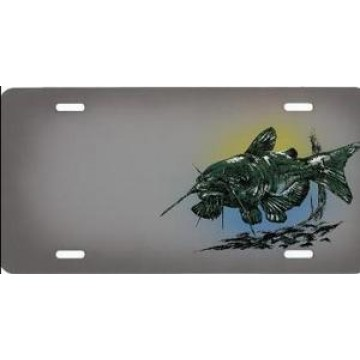 Catfish Fish Airbrush License Plate