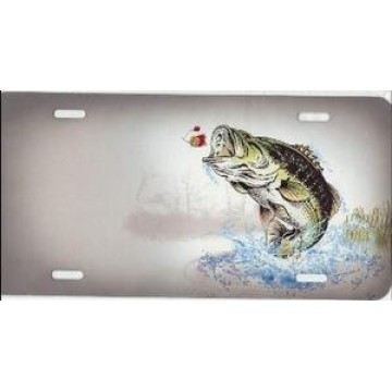 Bass Jumping Offset License Plate