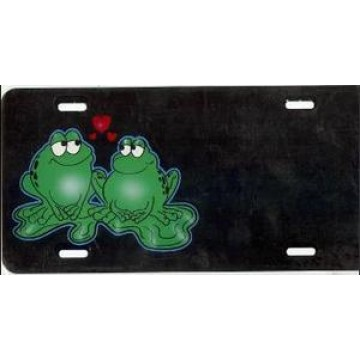Frog In Love Offset License Plate