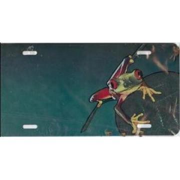 Frog Offset License Plate