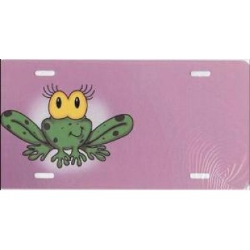 Cartoon Frog Airbrush License Plate
