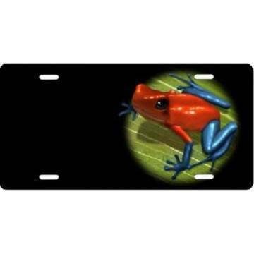 Dart Frog Offset Airbrush License Plate