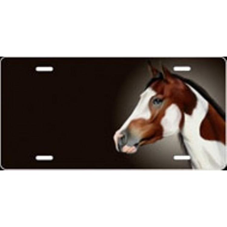 Paint Horse Offset License Plate