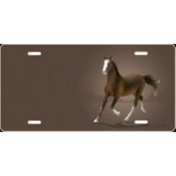 American Saddlebred Horse Offset Airbrush License Plate