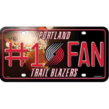 Portland Trail Blazers #1 Fan License Plate