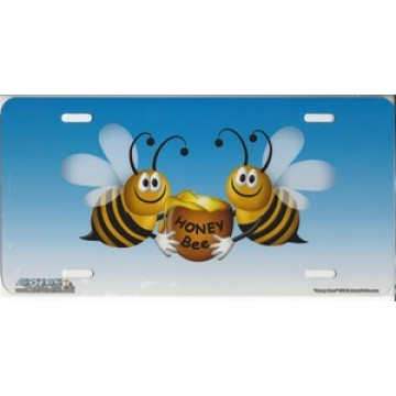"""""""Honey Bees"""" License Plate"""