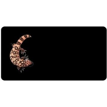 Offset Gila Monster On Black Photo License Plate