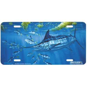 """Blue Marlin and Dolphin"" License Plate"