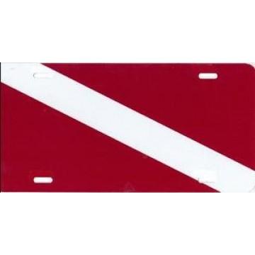 Dive Flag Airbrush License Plate