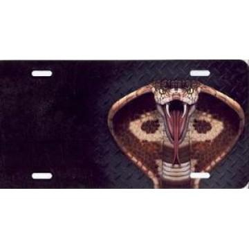 Cobra On Diamond Offset Airbrush License Plate