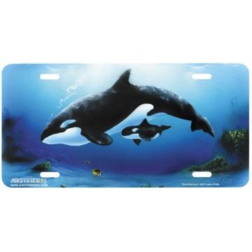 """Orca Harmony"" License Plate"