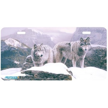 """""""The Summit"""" Wolf License Plate"""