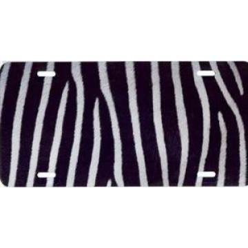 Zebra Fur Airbrush License Plate