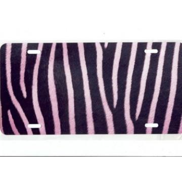 Zebra Fur Pink Airbrush License Plate